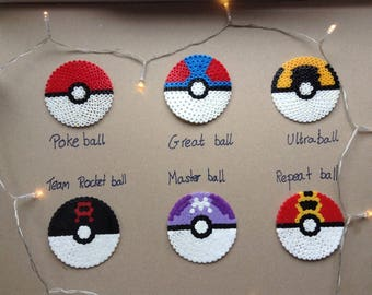 Pokemon Pokeball Hama Coaster