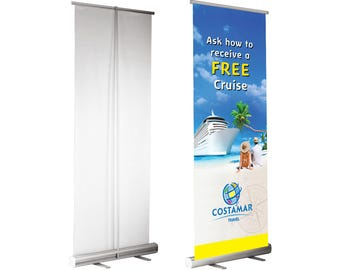 Retractable Banner Stand [STAND+BANNER] Best Trade Show Product or Service Presentation!