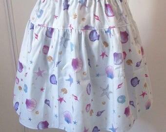 Light blue seashell mermaid skirt
