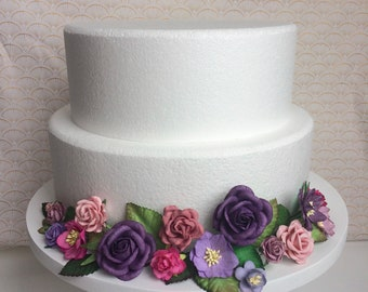 Bright purple and pink cake wrap
