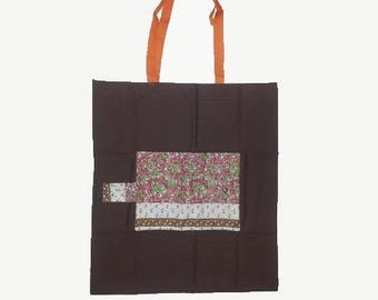 Fabric, compact and foldable shopping bag