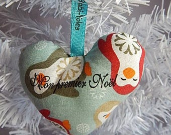 """My first Christmas"" hang in the tree heart shaped ornament"