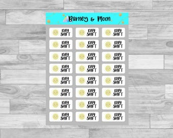 Day Shift Planner Stickers