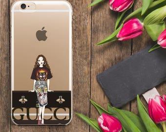 Gucci girl style gucci iPhone Case Gucci Iphone 7 Gucci IPhone 6s Case Fashion Iphone case iPhone 7 Plus case Gucci Galaxy S7 Case SamsungS6