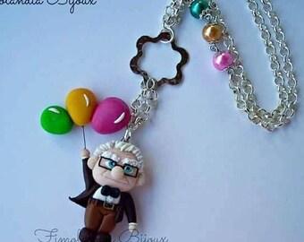 Necklace UP, collana originale, Idea regalo, fimo, pixar animation, walt Disney.