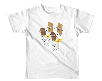 Camping S'mores Kids T-Shirt