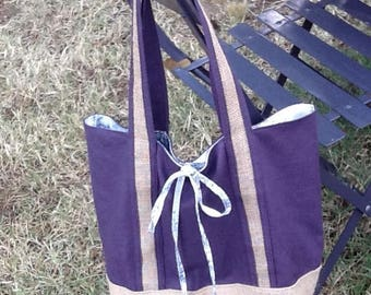 Tote cotton and toile