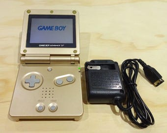 Nintendo Game Boy Advance GBA SP Gold System AGS 001 Mint New (Pick Button Color!)
