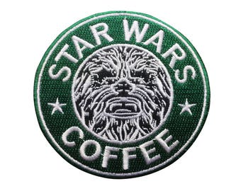 Star Wars Patch Star Wars Coffee Patch Chewbacca Iron on Patch Sew On Patches back patch