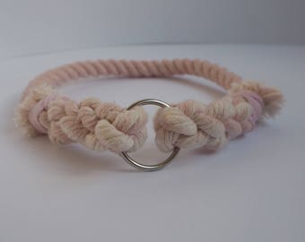 Pretty In Pink - Rope Dog Collar