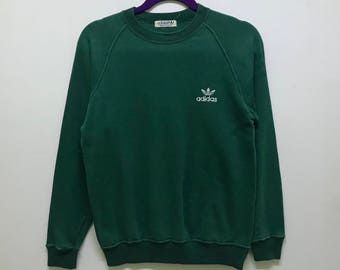 Rare!!! Vintage!!! Adidas X Descente Trefoil Sweatshirt Small Logo Spellout Embroidered