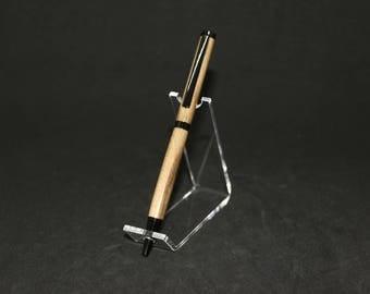 Pecan Black Enamel Slimline Twist Pen