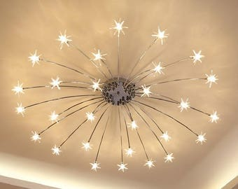 Vintage Star Chandelier Lamp