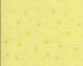 Coupon patch fabric small yellow flowers