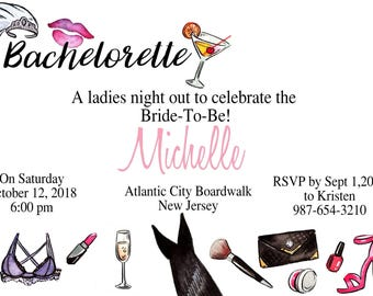 Bachelorette Party Invites -sold in sets of 5