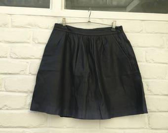2NDDAY genuine lambskin dip dye effect skirt