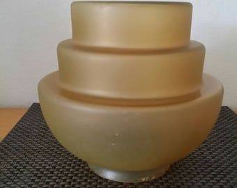 Art Deco Beehive Small Yellow/Gold Colour Lamp Shade