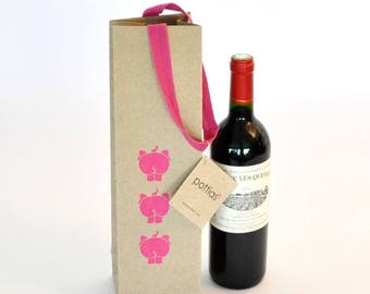 From elephant dung and recycled wine bottle gift bag