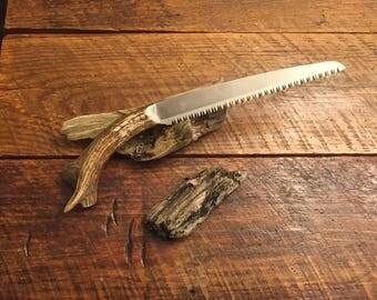 Japanese pruning Saw with custom Elk handle