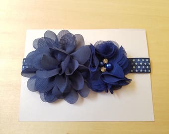 Blue elastic headband