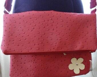 faux ostrich leather clutch handbag