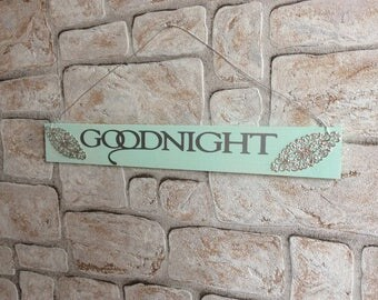 "Decorative wooden sign ""Goodnight"""