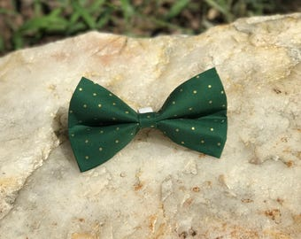 Elegant Emerald Bow Tie