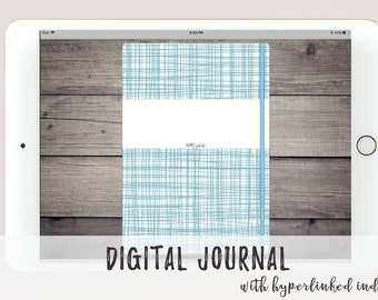 Digital Bullet Journal for Goodnotes Xodo Noteshelf Notability | Linked Index Pages |  Simple Bujo Design with Dot Grid | Digital Journal