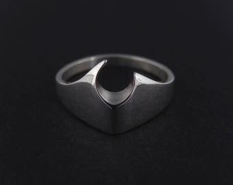 Wulfnaut - Asymmetrical Fanged Sterling Silver Ring