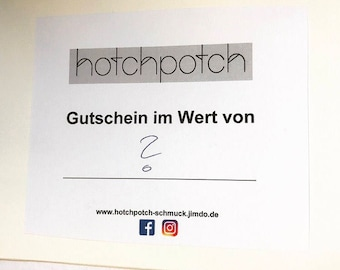Coupon-Hotchpotch gift voucher for different amounts