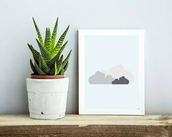 Modern Clouds Print