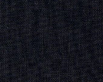 Sold black coated linen was cut from 25 cm