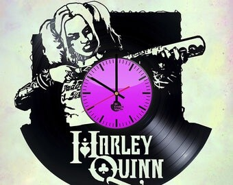 Harley Quinn Suicide Squad Vinyl Record Wall Clock