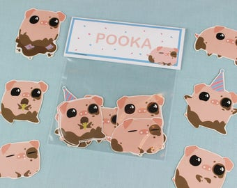 Stickers / Pig Stickers / Kids Stickers / Laptop Sticker Pack / Animal Stickers / Cute Stickers / Kawaii  stickers / Laptop Stickers.