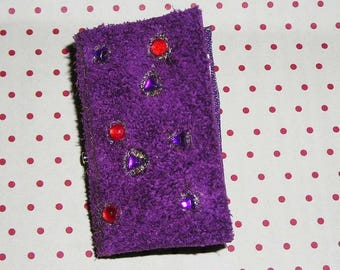 Book Purple Leather (book brooch) pin