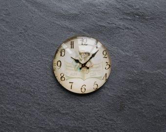 """Cabochon 25 mm glass retro """"clock"""""""