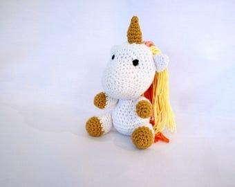 Baby Unicorn crochet - amigurumi plushie