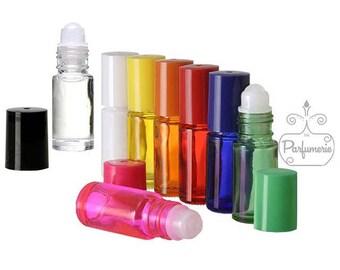 6 Glass Roll On Bottles - 5 ML