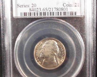1944D Jefferson Nickel PCGS MS65 Full Steps, War Nickel, PCGS, Full Steps Nickel, Slabbed Coin