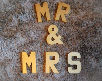 Mr and Mrs Letters | Top Table Sign | Wedding Top Table Sign | Wedding Decoration | Wedding, Wedding Reception | Papermache Letters