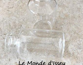 2 50mm glass bottles