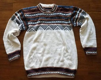 Alpaca Sweater, Christmas Sweater, Winter Sweater, Comfy Sweater, Vintage, Comfy