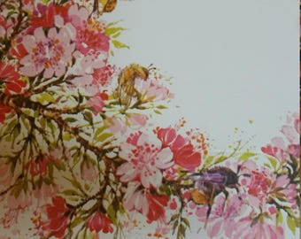 Vintage Stationery Collection ~ Pink Apple Blossoms and Bees Stationery Collection