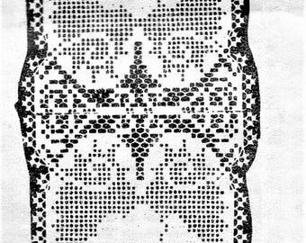 PDF Crochet Pattern, Small Heart Doily, Alice Brooks design