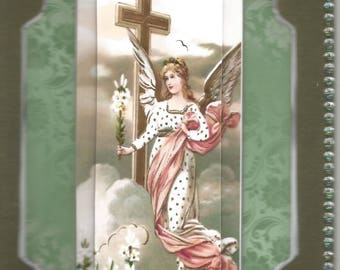 Zodiac, religious, 3D card, made diamond category condolence-death, death, mourning, funeral, sadness, grief,