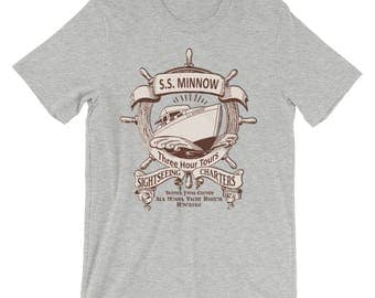 SS Minow Three Hour Tours Sightseeing Charters Unisex short sleeve t-shirt