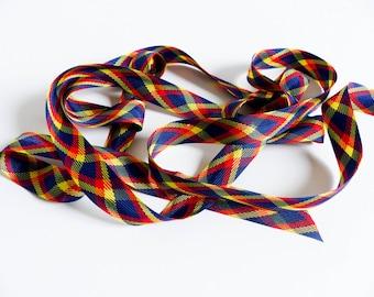 Ribbon Scottish vintage viscose rayon
