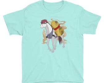 Gaara Anime Youth Short Sleeve T-Shirt