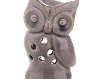 Oil burner ceramic OWL grey