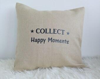 Cushion cover cotton and jute - spirit of nature - 40 x 40 cm - inscription